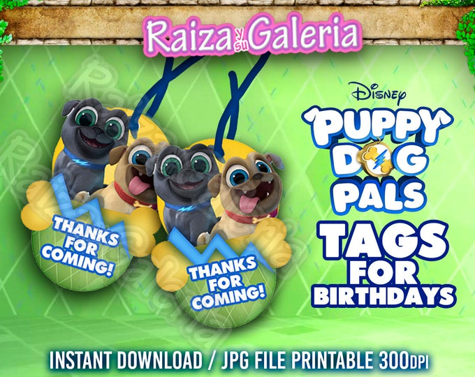 35 Off Coupon On Puppy Dogs Pals Tags For Birthday Party Bingo