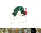 The Very Hungary Caterpillar, Needle Minder, Needle Keeper, Needle Nanny, Needle Holder, Needleminder, Needlepoint, Needle Minders