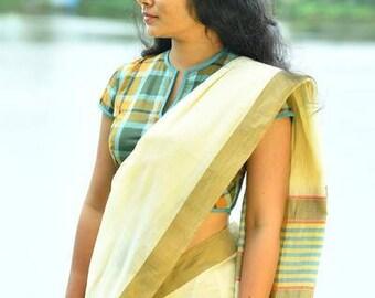 Kerala Settu Saree ~ Sepia