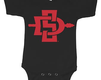 Custom Bodysuit SDSU® Retro Body SDSU® Logo San Diego State University®