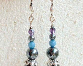 Earrings Hematite (gemstone)