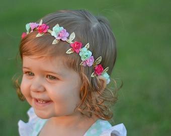 Flower crown ,flower headband ,shabby chic