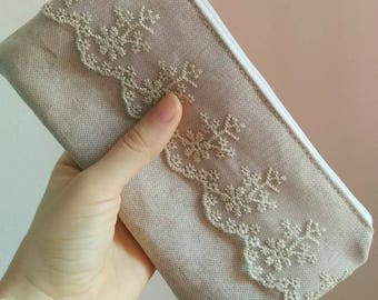 linen purse, pursebag, porta accessori in lino, linen item, fashion pouch, bustina in lino, handmade purse, pouchbag, accessories, linen bag