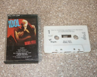 Billy Idol Rebel Yell Cassette Tape