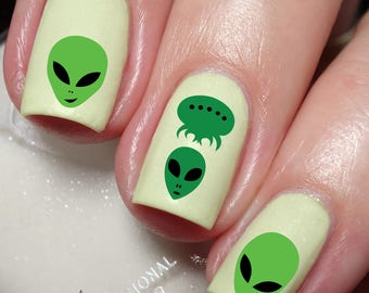 Alien Nail Art Sticker Water Transfer Decal 124