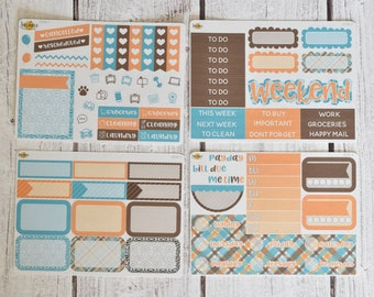 NO CODES PLEASE! Blue Gingham Mini Kit | Made to fit any planner! 609L