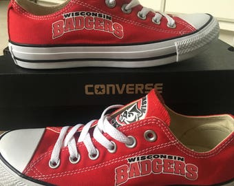 Wisconsin Badgers Converse Chuck Taylor Sneakers
