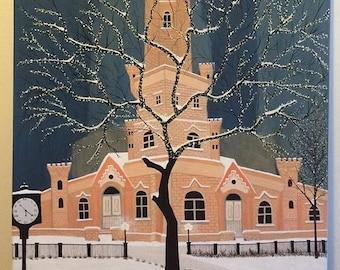 Winter in city 91 cm x 61 cm