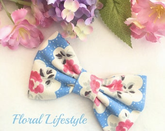 Cath Kidston Fabric Large Bow - Provence Rose Electric Blue