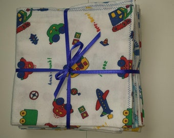 Set of 3 flannel boys and girls receiving blankets!