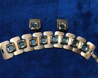 Renoir  Copper Bracelet & Earrings Set