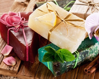 Full List of Available Bar Soaps - Triple Butter - Cocoa Butter - Shea Butter - Mango Butter - Big Soap