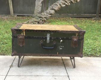 SOLD- Trunk, table, first world war chest