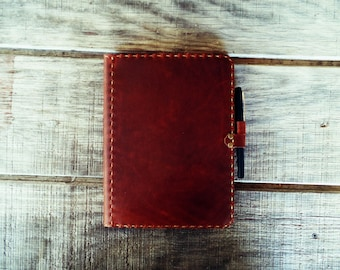 Handcrafted Leather Notebook Cover - For Standard Composition Notebooks