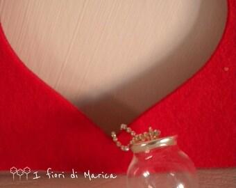"Long necklace ""Love u mom"""