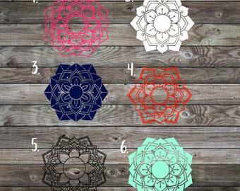 Mandala Decal | Mandala Monogram Decal | Monogram Decal | Yeti Decal | Car Decal | Laptop Decal | RTIC Decal | Phone Decal | Monogram