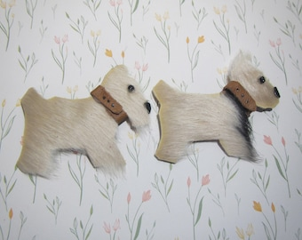 Terrier brooch leather, terrier brooch, Dog brooch, Dog brooch leather, symbol of the year 2018, dog brooch terrier, Mother's day gift, dog