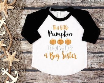 Big Sister Shirt;Halloween Baby Announcement;Halloween Big Sister;Pregnancy Announcement Shirt;Sibling Shirt;Baby Announcement Shirt;
