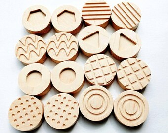 Tactile memory game - wooden pattern memory game - pattern sensory tiles - wooden memory game - toddler toy