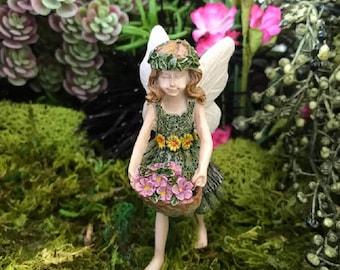 Miniature Fairy Autumn with Purple Flowers