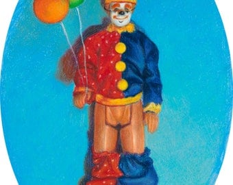Ken as a Clown - signed limited edition print