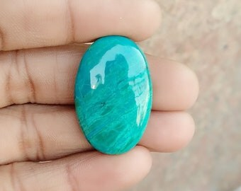 Warm sell 38.5ct Chrysocolla Natural Gemstone Super Quality AAA+++  Cabochon , Smooth, Oval Shape, 31x20x6mm Size, AM265