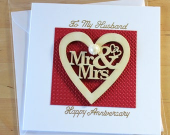 Anniversary card husband, Anniversary card wife, 1st anniversary husband, 1st anniversary wife,  Anniversary gift,  1st anniversary gift,