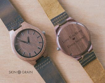 Love, Love Message, Valentine's day, Engraved Watch, Husband Gift, Boyfriend gift, Gift for Him, Watch, Wood Watches men, Wood Watches, Oak