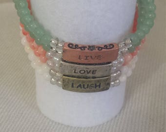 Live Love Laugh Bracelet Set