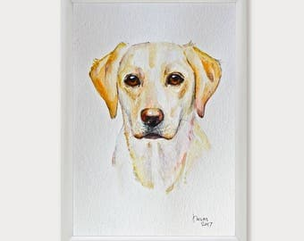 Custom Pet Portrait, Personalized Pet Art Commission, Dog Portrait, Pet Memorial, Watercolor Original Painting, Pet Loss Gifts, Dog Lover
