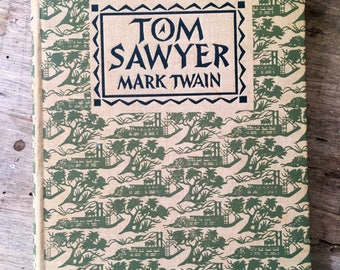Tom Sawyer, Mark Twain, classic american novel.American classic, C Walter Hodges, 1950s book, Huckleberry Finn