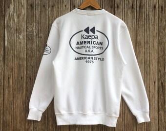 Rare!! Vintage Kaepa Sports Sweatshirt Nice Design Medium size