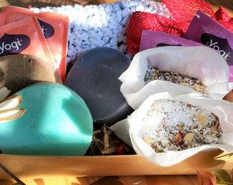 Spa Gift Set, Spa Gift, Spa Gift Basket, Soap Gift Sets, Spa Kit, Spa Set, Shampoo Bars, Solid Conditioner Bars, Bath Tea Salts, Herbal Bath