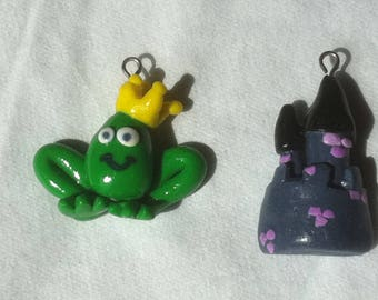 Castle and prince earrings