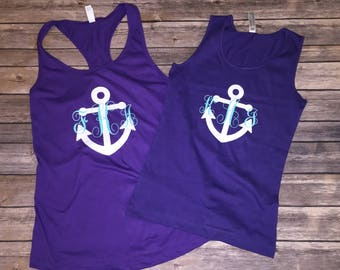Monogrammed Anchor Tank