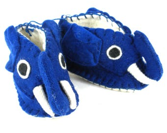 BluE eLEPHANT zOOTIES BABY BOOTIES