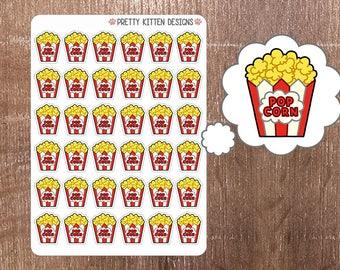 Popcorn Planner Stickers   36 Stickers   Matte Removable   Erin Condren, Kikki K, Plum Paper Planner