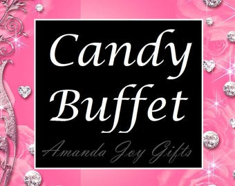 Custom Candy / Dessert Buffet - Custom Dessert Table - Candy Buffet Linens - Candy - Sweets Table - Wedding Dessert Table - Sweet 16 Table