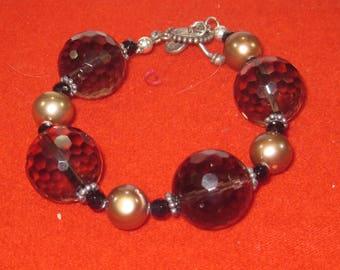 R- 46  Vintage  Bracelet  6 in long glass beads