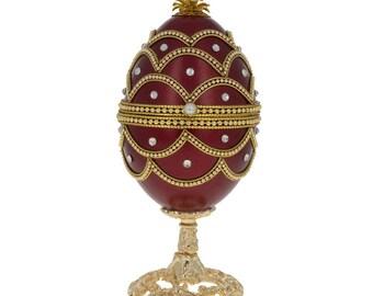 "5.4"" Royal Faberge Easter Egg Music Box"