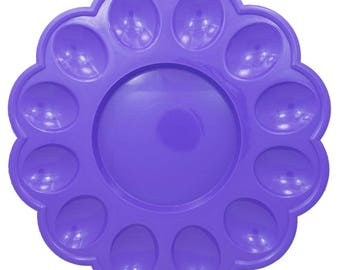 """9.5"""" Purple Plastic Tray for 12 Easter Eggs Display"""