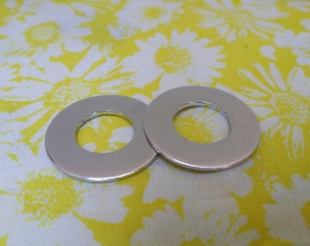 "10 Polished 14g  1"" Washers Blanks 1100 Food Safe Aluminum"