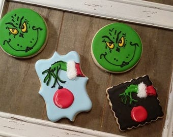 Grinch Cookies!  One dozen