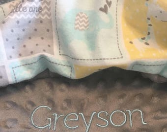 Personalized Baby Blanket Monogrammed Baby Blanket Name Blanket minky baby blanket baby shower gift personalized baby gift