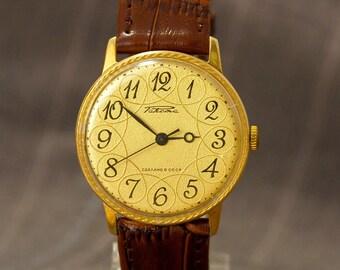 Classic men's wrist watch, men's gold plated, horloge, shockproof men watch, watch Rocket, orologio da uomo, dress wristwatch him gift