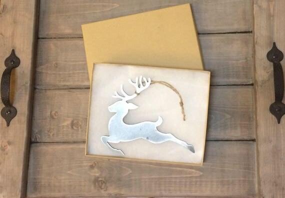 Reindeer Christmas Ornament, Christmas Decor, Rustic Christmas
