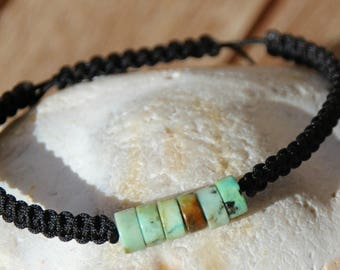 wire nylon with African turquoise Beads Bracelet