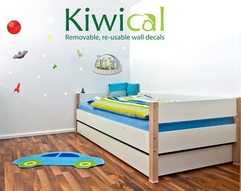 Large Space Station - Kiwical Reusable Wall Decals