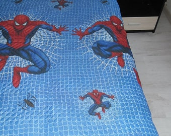 Luxurious quilted bed cover from cotton for children - CAN BE USED from both sides