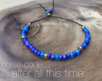 after all this time || morse cose + seed bead jewelry + harry potter jewelry + custom bracelet + dainty + minimalist + friendship bracelet